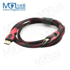 Manufacturer Accept OEM set-top box hdmi cable 1.5m dual-color mode supports 3D 1080P for TV