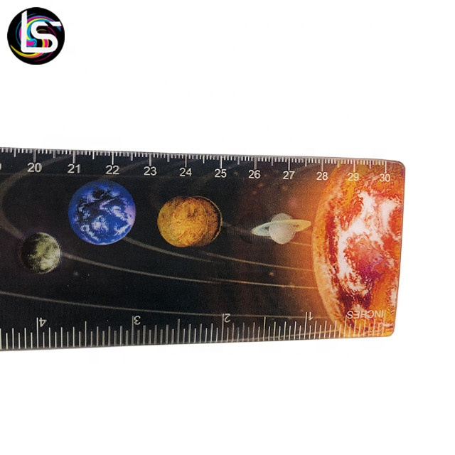 Wholesale 30cm lenticular pp straight ruler of planet