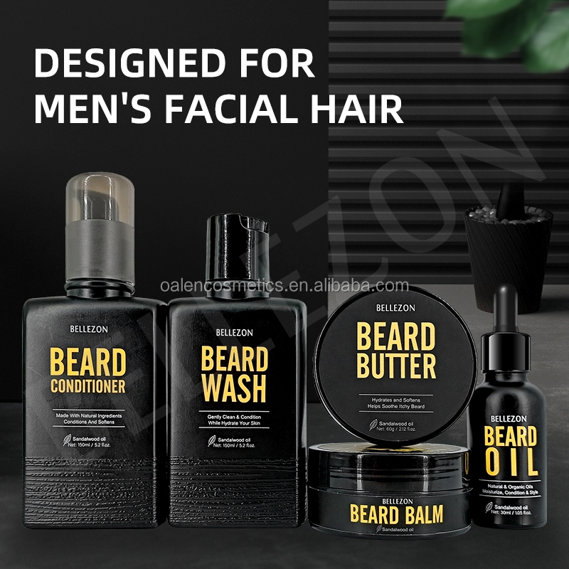 MOQ50 Private Label Gentleman Barba Olio e la Barba Grooming Kit