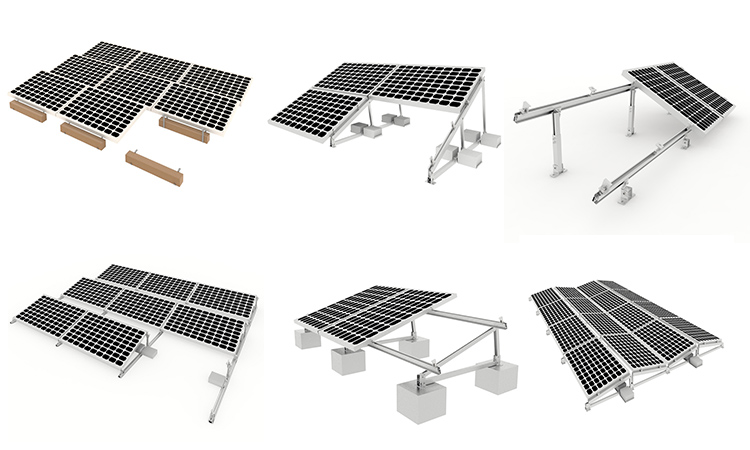 Solar Panel Mounting Brackets Flat Roof Solar Racking