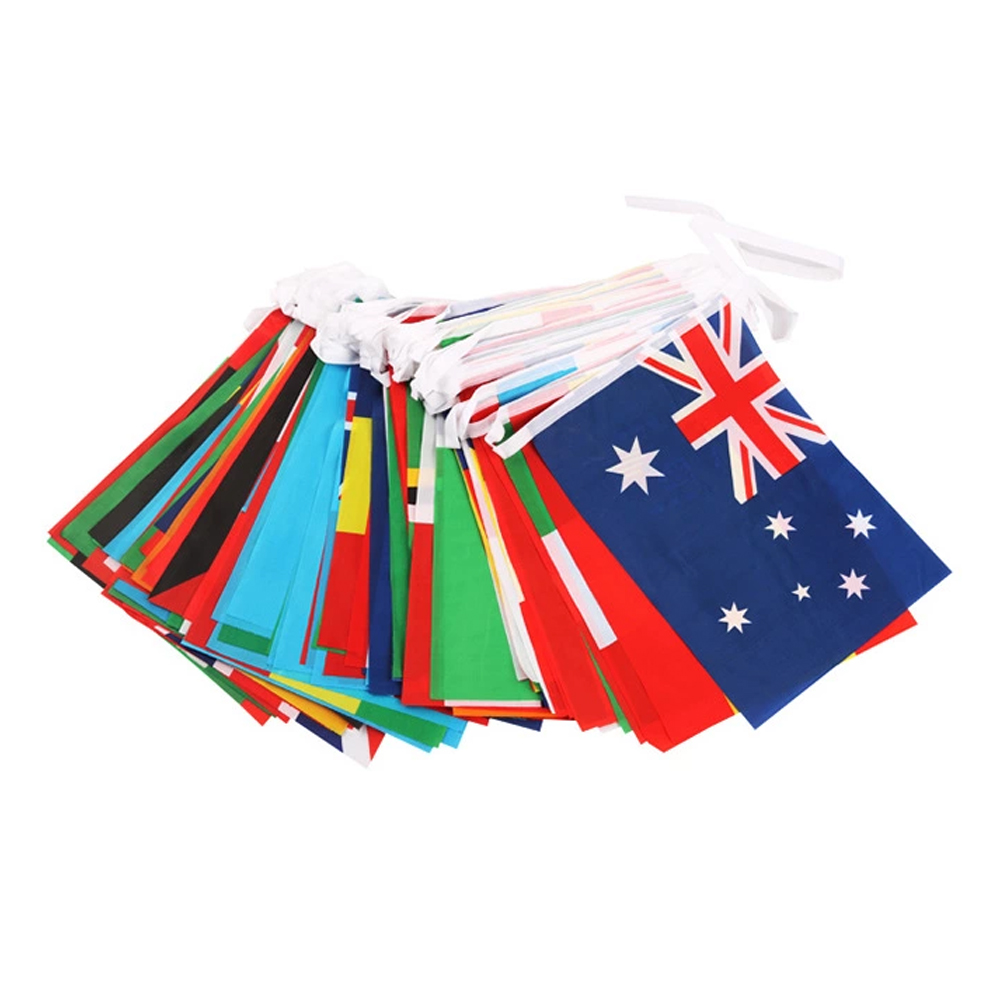 Wholesale plastic pennants flags polyester pennant party Triangular flags PE pennant banner string flags