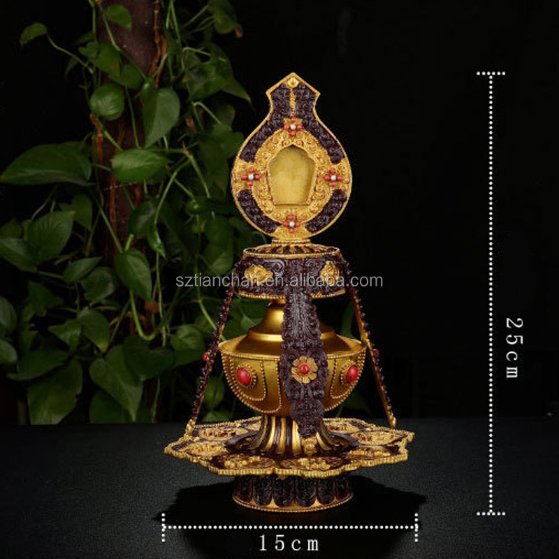 Buddhist Focus Ritual Offering Pot Tibetan Sacred Water Vase Art Collectible Buddhism Kettle