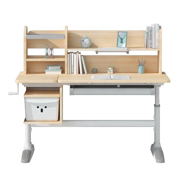 IGROW height adjustable ergonomic modern single study table and chair