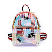 Women Transparent PVC Backpack Knapsack Jelly Travel Backpack Multipurpose Clear Bag Big Small Girl Laser Mochila School Bag