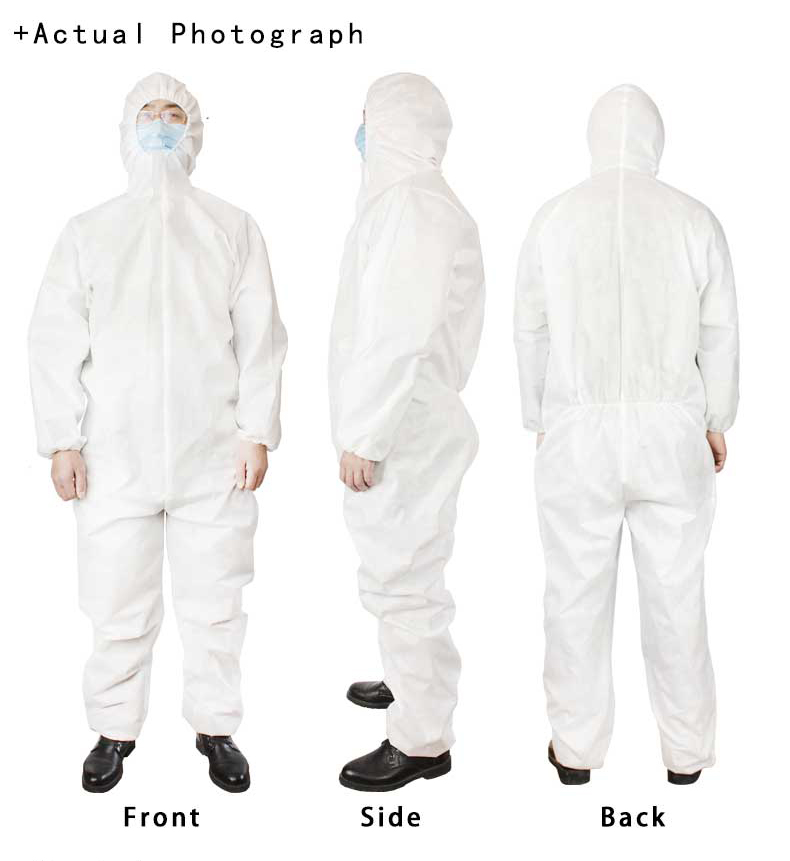 Cheap price reinforced acid resistant waterproof disposable coverall suit