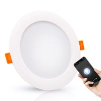 Voice Smartphone Controlled Light panel 8W 10W 13W 15W 18W dimmable round led panel light Wifi Tuya Smart round led panel light