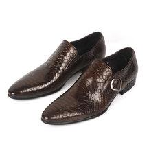 Модная мужская обувь; Итальянская обувь из натуральной кожи; Цвет черный, коричневый; Свадебная Мужская обувь; Модель 2020 года; Обувь без заст...(Китай)