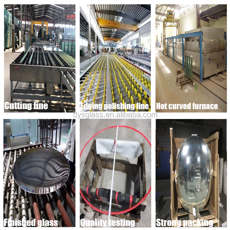Clear Heat Strengthened Shaped Hot Benting Curved Glass For furniture