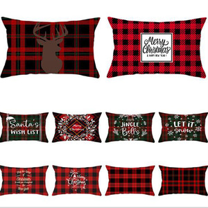 Christmas Throw Pillow Cover Cushion Case Home Office Decorative Rectangle 12 X 20 inches