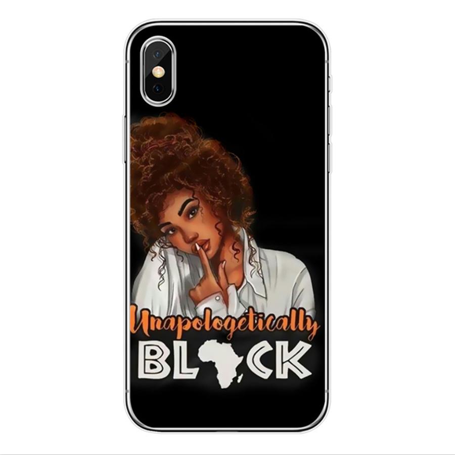 Schwarz mädchen telefon fall Melanin Poppin Schwarz Mädchen königin für iPhone 12/12pro/12 Max fall 6 6s 6SP 7 8 8S plus X XR XS max TPU fällen