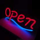 Hot sale factory custom luminous word acrylic neon letters custom open sign door led light for outdoor with billboard