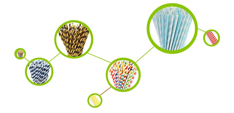Biodegradable  Paper Straws, Party Straws for Juice, Cocktail, Smoothies, Birthday, Wedding, Bridal/Baby Shower Supplies
