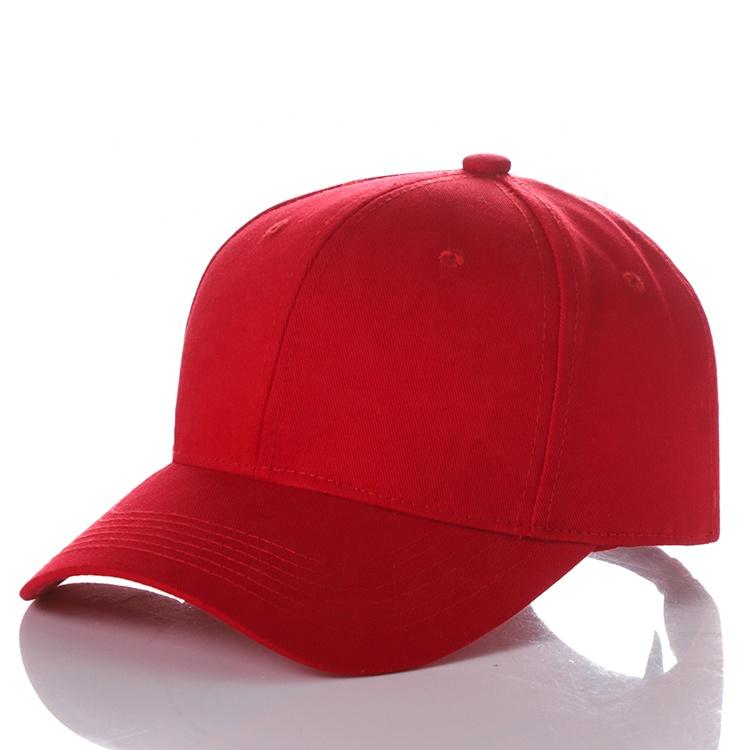 Alta calidad de encargo rojo nuevo en blanco llano algodón compuesto de béisbol de gorra