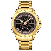 NAVIFORCE мужские часы Лидирующий бренд из нержавеющей стали мужские часы аналогово-цифровые кварцевые наручные часы мужские спортивные часы ...(Китай)