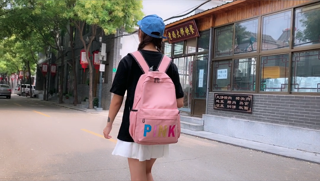OEM acceptable sequin pink girls backpack large capacity college backpack for women fashion travel backpack