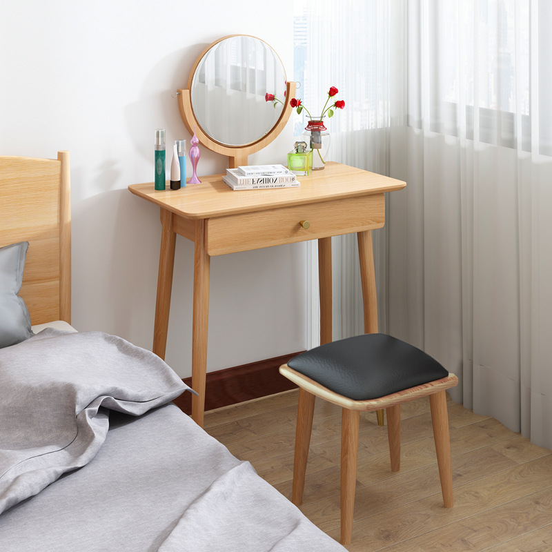 product-BoomDear Wood-Makeup Mirror Price Furniture Mini Console Folding Bedroom Drawer Dressing Tab