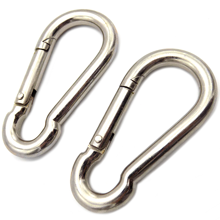 316 stainless steel Carabiners are versatile quick-connect snap hooks for safety