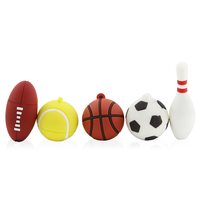 Creative Pendrive Football Sports USB Stick 8GB 16GB 32GB 64GB Cartoon Basketball Flash Drive