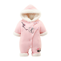 Newborn New Year clothes early birth baby thickened out to hug baby winter clothes warm jumpsuit baby winter jumpsuit