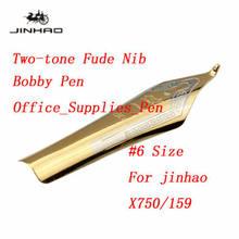 Jinhao X450 Классическая перьевая ручка, Роскошная золотая ручка с чернилами Fude Nib, деловая подпись в офисе, школьная каллиграфия, подарок(Китай)