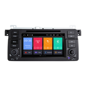 AutoRadio 1 Din Android 9.0 Car DVD Player For BMW E46 M3 318/320/325/330/335 Rover 75 1998-2006 GPS Navigation BT Wifi RDS