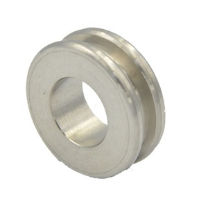 CNC Machining Service Stainless Steel Pulley Wheels with Hole