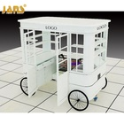 Custom ice cream mobile kiosk in mall design, cake food cart kiosk