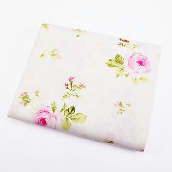 Home Textile Pattern Rose Floral Cotton Fabric For Sewing Sofa Cover
