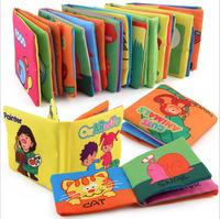 Educational fabric book soft cloth book baby toys infant gift for wholesale