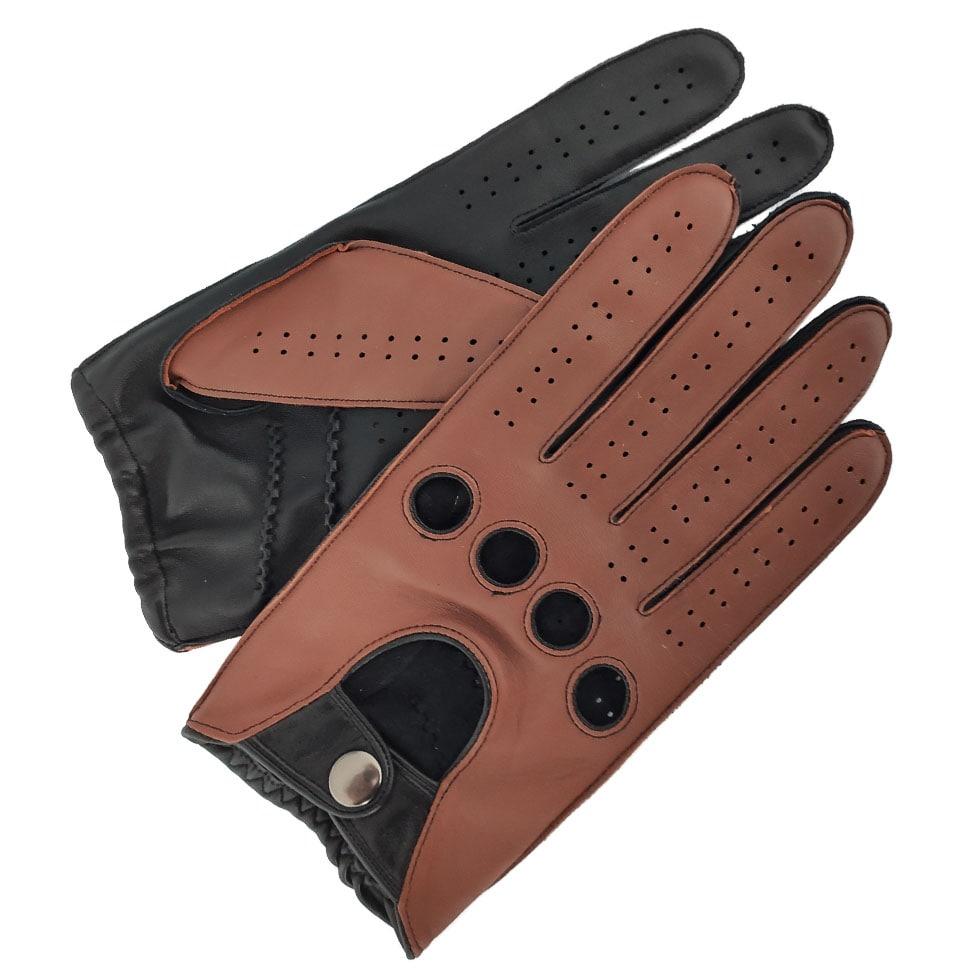 Manufacturer Custom Neutral Fashion Sheepskin Full Finger Unlined Driving Leather Gloves
