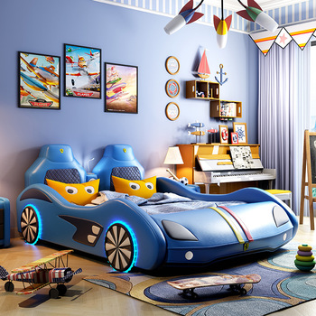 Bedroom Girl Boy Furniture Car Design Fashions Kids Children Car Bed