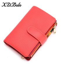 XDBOLO женский кошелек, короткий женский кошелек, модные бумажники для женщин, держатель для карт, Дамский кошелек, женский клатч с застежкой д...(Китай)