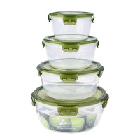 Hot selling Preservation fresh food storage container crisper box set of 4 pcs