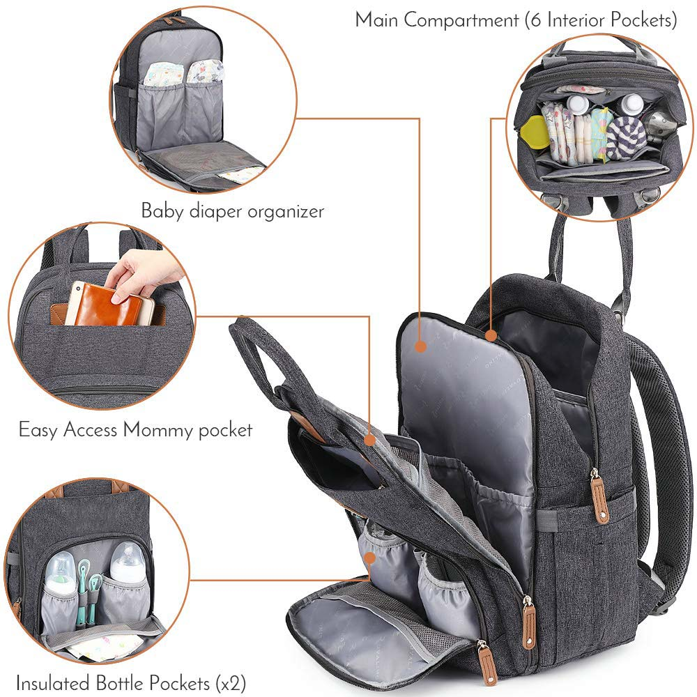 FREE SAMPLE Diaper Bag Backpack, Multifunction Travel Back Pack Maternity Baby Nappy Changing Bags, Large Capacity