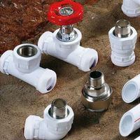 Famous brands hot water ppr pipe insulation fitting name and sizes