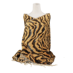 High quality zebra jacquard scarf with tassel ladies custom winter pashmina hijab autumn shawl women cotton woven soft scarves