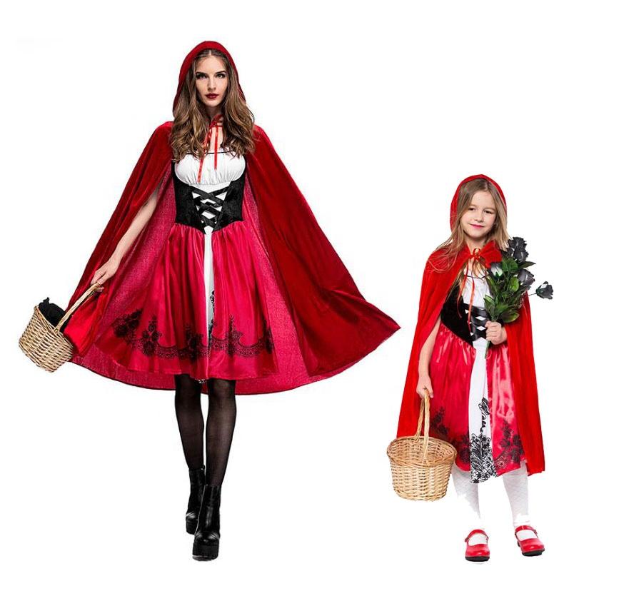 Ecowalson Women S Little Red Riding Hood Halloween Cloak Cosplay