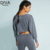 New Fashion Short Sweatshirt Long Sleeves Blouse Sportswear Women