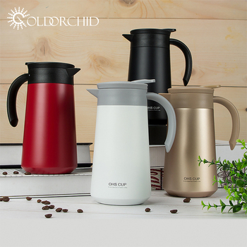 Large Capacity 800ml Classical Stainless Steel Vacuum kettle Coffee Pot With Handle