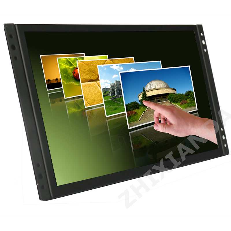 Factory direct industrial grade metal case 11.6 inch VESA wall mount capacitive touch screen monitor