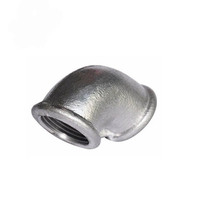 Beaded GI black Cast Iron Elbow Pipe Fitting galvanized gi 90 degree equal elbow elbow gas line pipe fittings