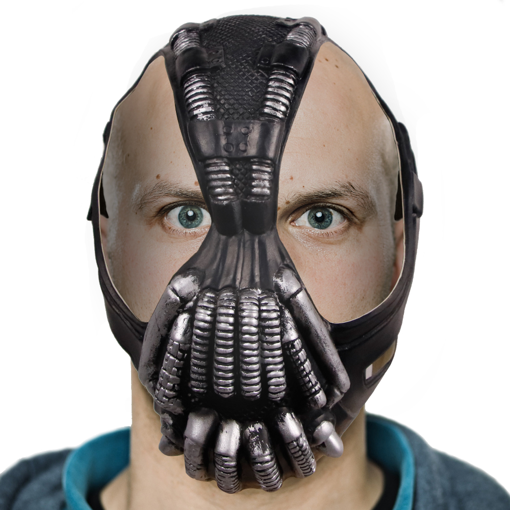 Molezu Factory Sale The Dark Knight Rises Movie Bane Head Masks Halloween Batman Costume Cosplay Comics Face Party Mask