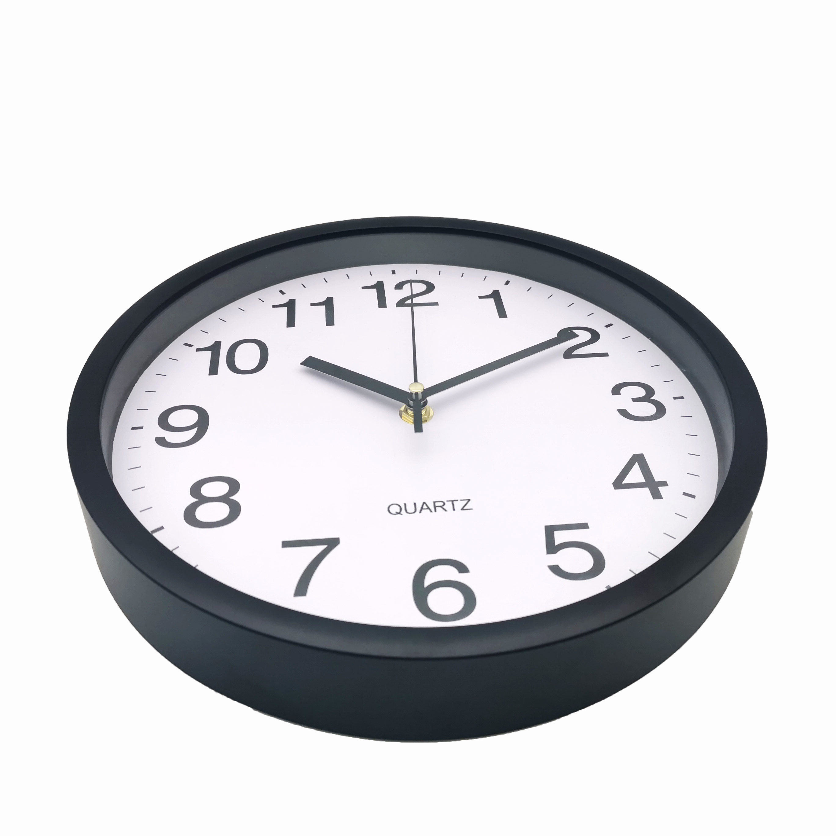 Home Decoration Simple Round Design 10 inch Cheap Plastic Wall Clock