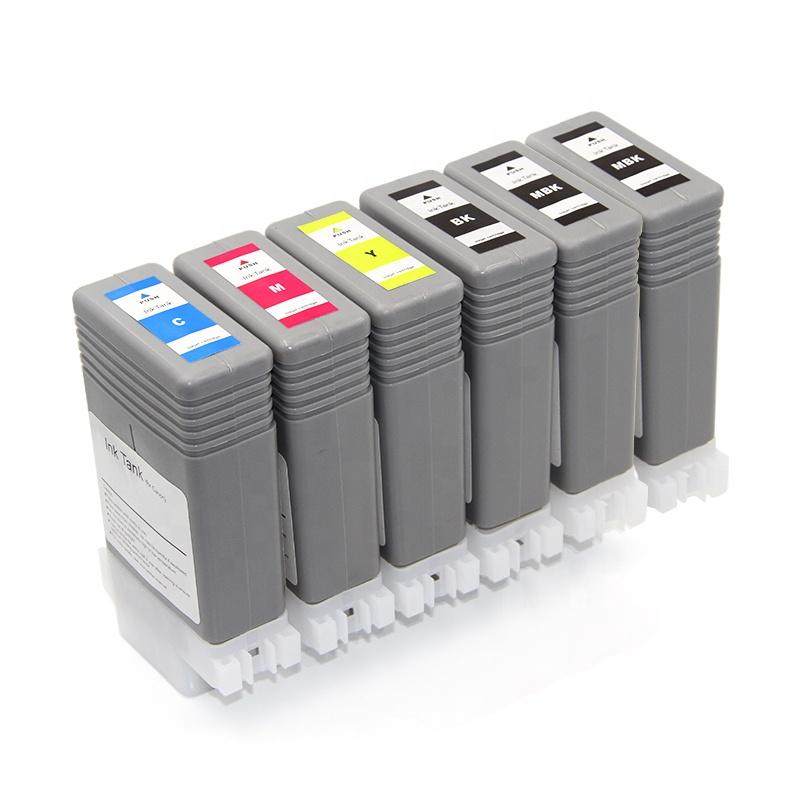 Ocbestjet 130ML/PC PFI 107 Compatible Ink Cartridge Full With Dye Ink For Canon iPF 670 680 685 770 Printer Ink Cartridge