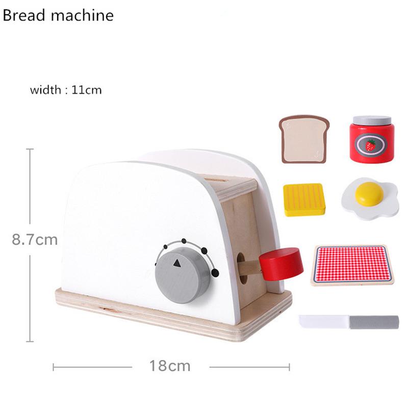 Детские деревянные ролевые игровые наборы, Имитационные тостеры, хлебопечка, Кофеварка, блендер, набор для выпечки, игровой миксер, кухонны...(Китай)