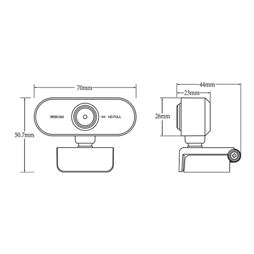 Smart Rotatable HD Webcam Desktop Plug & Play Web Camera Cam Video Recording