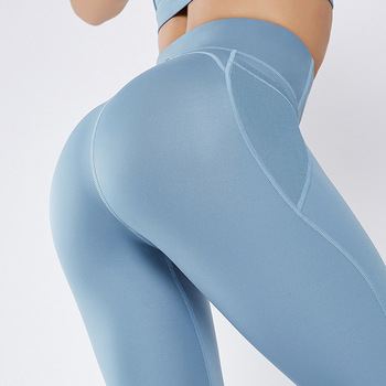 Fitness pants women's high waist running yoga pants nude girl women sexy yoga tights leggings fitness