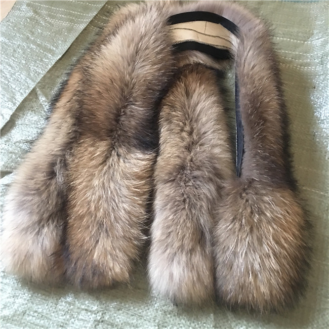 Real Genuine Raccoon Fur Collar Scarves Scarf