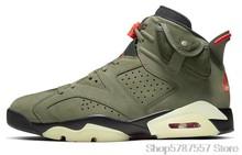 Мужские баскетбольные кроссовки Nike Air Jordan 6, черные инфракрасные баскетбольные кроссовки Jordan с высоким берцем, Баскетбольная обувь для женщ...()