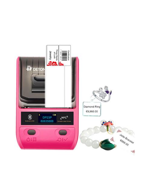 DeTonger-DP23L Cheap Portable Handheld Barcode QR code Price Tag printer Label Sticker Printer